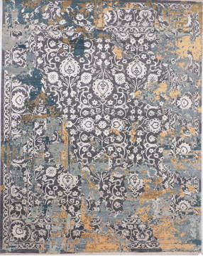 "Jaipur Grey Hand Knotted 8'1"" X 10'1""  Area Rug 905-135828"