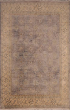 "Oushak Grey Hand Knotted 8'9"" X 11'9""  Area Rug 301-135848"