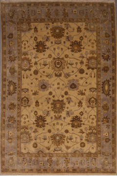 "Oushak White Hand Knotted 8'11"" X 12'2""  Area Rug 301-135849"