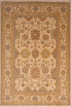 "Oushak White Hand Knotted 9'1"" X 11'9""  Area Rug 301-135862"