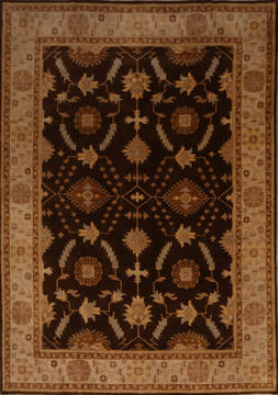 "Oushak Brown Hand Knotted 8'11"" X 11'11""  Area Rug 301-135864"