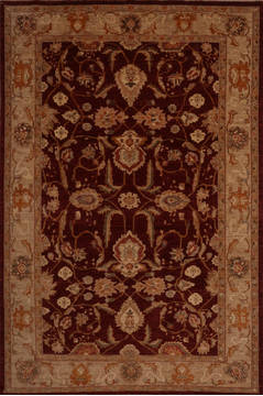 "Pishavar Red Hand Knotted 8'11"" X 11'9""  Area Rug 301-135865"