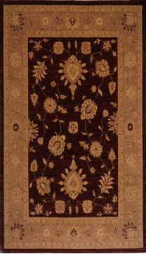 "Pishavar Red Hand Knotted 9'0"" X 11'9""  Area Rug 301-135866"