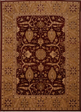 "Pishavar Red Hand Knotted 8'11"" X 12'0""  Area Rug 301-135886"