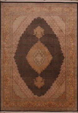 "Mahi Black Hand Knotted 8'11"" X 12'4""  Area Rug 301-135889"