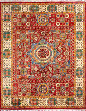 "Mamluk Red Hand Knotted 8'2"" X 10'3""  Area Rug 700-135898"