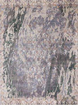 "Jaipur Grey Hand Knotted 9'1"" X 12'1""  Area Rug 905-135927"