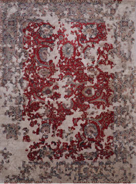 "Jaipur Red Hand Knotted 9'0"" X 12'3""  Area Rug 905-135931"