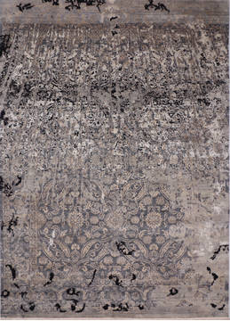 "Jaipur Grey Hand Knotted 9'0"" X 12'3""  Area Rug 905-135949"