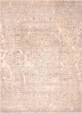 "Jaipur Beige Hand Knotted 9'3"" X 12'5""  Area Rug 905-135950"