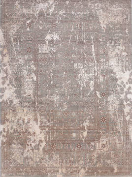 "Jaipur Grey Hand Knotted 9'0"" X 12'3""  Area Rug 905-135951"