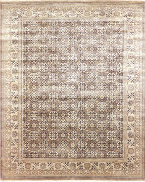 "Modern Multicolor Hand Knotted 8'2"" X 10'4""  Area Rug 904-135963"