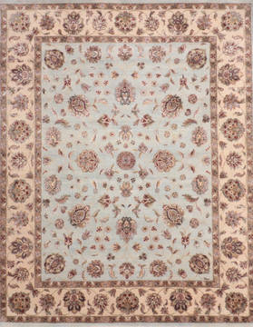 "Jaipur Blue Hand Knotted 8'0"" X 10'3""  Area Rug 905-135978"