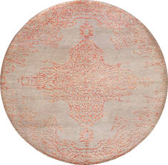"Floral Beige Round Hand Made 10'0"" X 10'0""  Area Rug 902-136016"