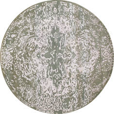 "Floral Grey Round Hand Made 8'0"" X 8'0""  Area Rug 902-136089"