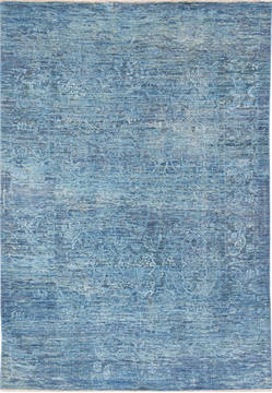 "Modern Blue Hand Knotted 5'4"" X 7'7""  Area Rug 700-136117"