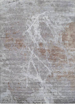 "Modern Grey Hand Knotted 8'0"" X 10'0""  Area Rug 903-136125"