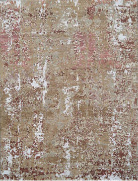 "Modern Brown Hand Knotted 8'0"" X 10'0""  Area Rug 903-136131"