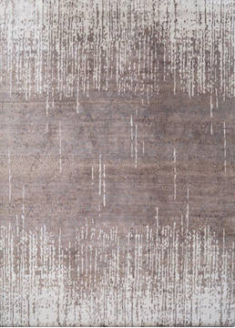 "Modern Brown Hand Knotted 8'0"" X 10'0""  Area Rug 903-136133"