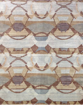 "Modern Brown Hand Knotted 8'0"" X 10'0""  Area Rug 903-136135"