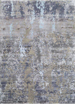 "Modern Grey Hand Knotted 8'0"" X 10'0""  Area Rug 903-136142"