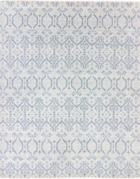 Indian Modern Grey Rectangle 8x10 ft Wool Carpet 136247