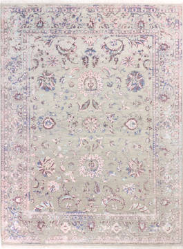 "Agra Grey Hand Knotted 8'3"" X 10'1""  Area Rug 904-136272"