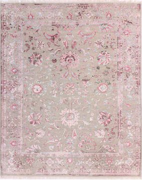 "Agra Grey Hand Knotted 8'2"" X 10'0""  Area Rug 904-136274"