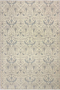 "Modern Beige Hand Knotted 6'0"" X 9'0""  Area Rug 904-136300"