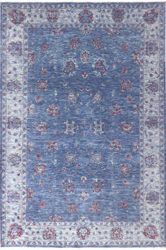 "Modern Blue Hand Knotted 6'0"" X 8'10""  Area Rug 904-136311"