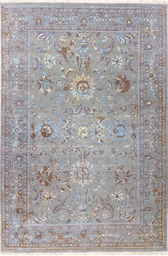 "Jaipur Grey Hand Knotted 6'2"" X 9'4""  Area Rug 904-136316"