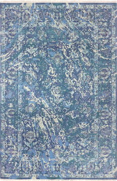 "Modern Blue Hand Knotted 6'0"" X 9'1""  Area Rug 904-136320"