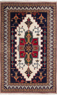 "Pak-Persian White Hand Knotted 5'0"" X 8'0""  Area Rug 700-136377"