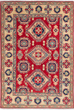 "Kazak Red Hand Knotted 5'7"" X 8'0""  Area Rug 700-136382"