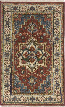 "Heriz Multicolor Hand Knotted 3'0"" X 5'0""  Area Rug 904-136475"