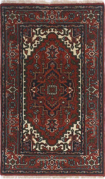 "Heriz Red Hand Knotted 3'0"" X 5'0""  Area Rug 904-136481"
