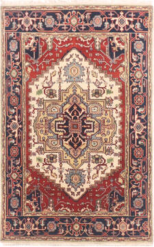 "Serapi Multicolor Hand Knotted 4'0"" X 6'0""  Area Rug 904-136483"