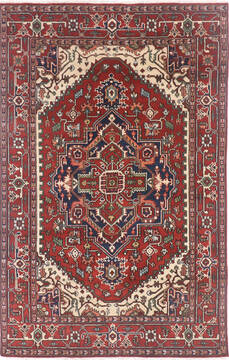 "Heriz Multicolor Hand Knotted 6'0"" X 9'0""  Area Rug 904-136493"