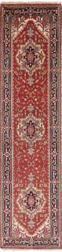 Indian vintage Multicolor Runner 10 to 12 ft Wool and Cotton Carpet 136504