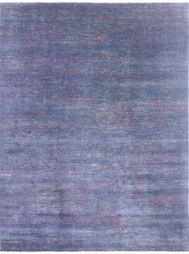 "Modern Blue Hand Knotted 8'1"" X 10'4""  Area Rug 904-136506"