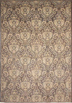 Pakistani Zigler Brown Rectangle 10x14 ft Wool Carpet 136512