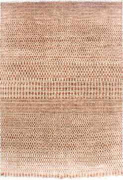 "Modern Brown Hand Knotted 7'7"" X 9'11""  Area Rug 904-136519"