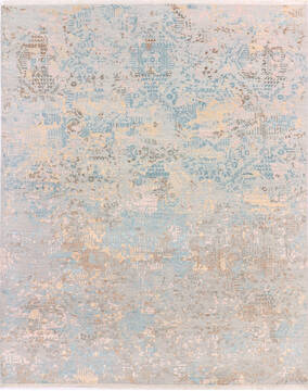 "Modern Multicolor Hand Knotted 8'0"" X 10'3""  Area Rug 904-136530"