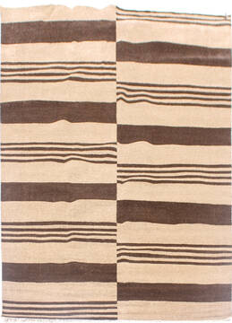 "Modern Brown Hand Knotted 7'10"" X 9'10""  Area Rug 904-136533"