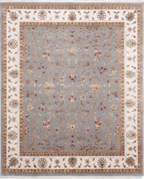 "Jaipur Blue Hand Knotted 8'1"" X 10'1""  Area Rug 905-136621"
