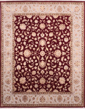 "Jaipur Red Hand Knotted 8'0"" X 10'0""  Area Rug 905-136625"