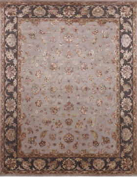 "Jaipur Grey Hand Knotted 8'0"" X 10'1""  Area Rug 905-136627"
