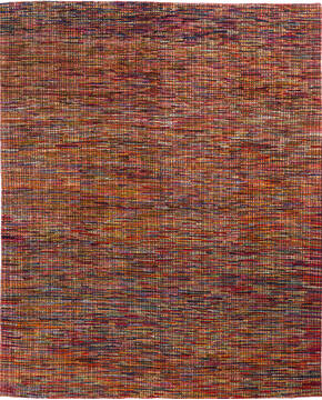 "Other Multicolor Hand Knotted 8'0"" X 9'10""  Area Rug 700-136725"