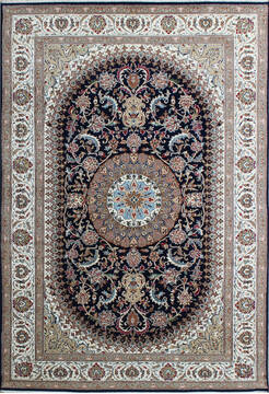 "Nain Blue Hand Knotted 6'6"" X 9'9""  Area Rug 902-136758"