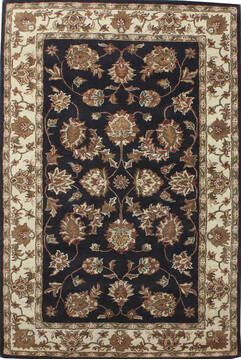 "Persian Black Hand Tufted 5'0"" X 8'0""  Area Rug 902-136789"